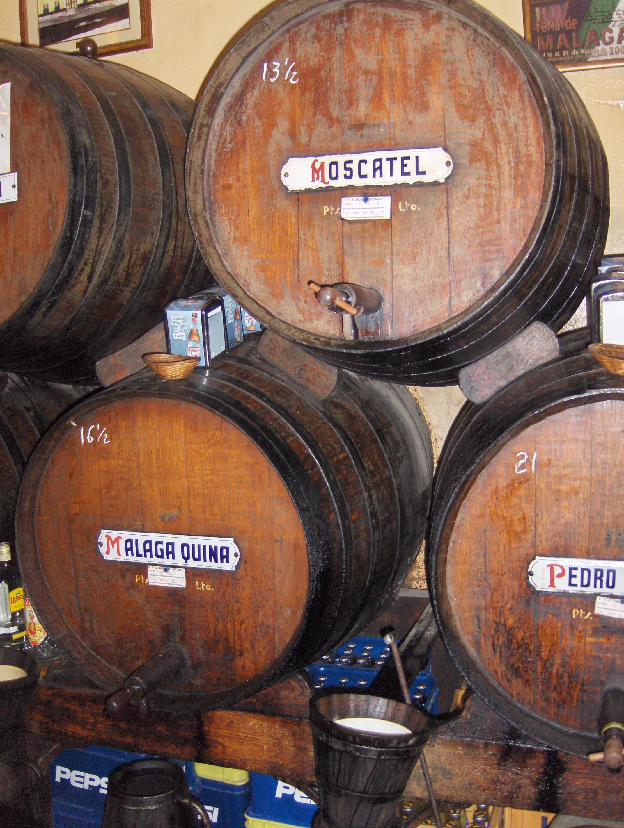 Бочки с вином, Андалусия, Малага