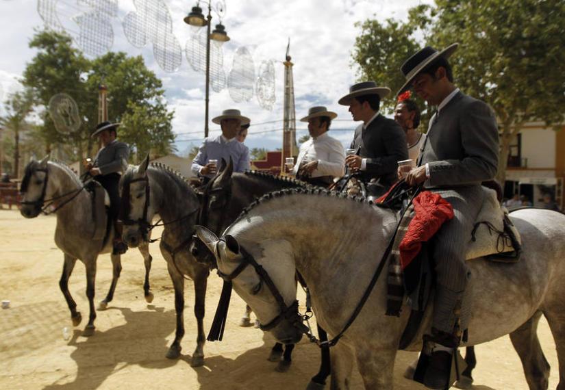 Ярмарка лошадей в Херес де ла Фронтера