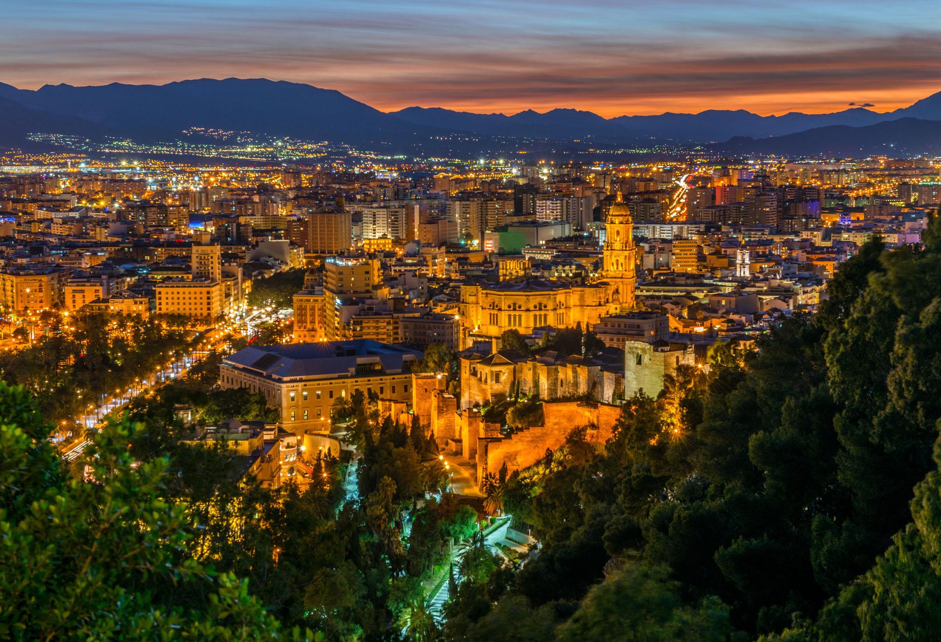 Сердце Андалусии - ночная Малага