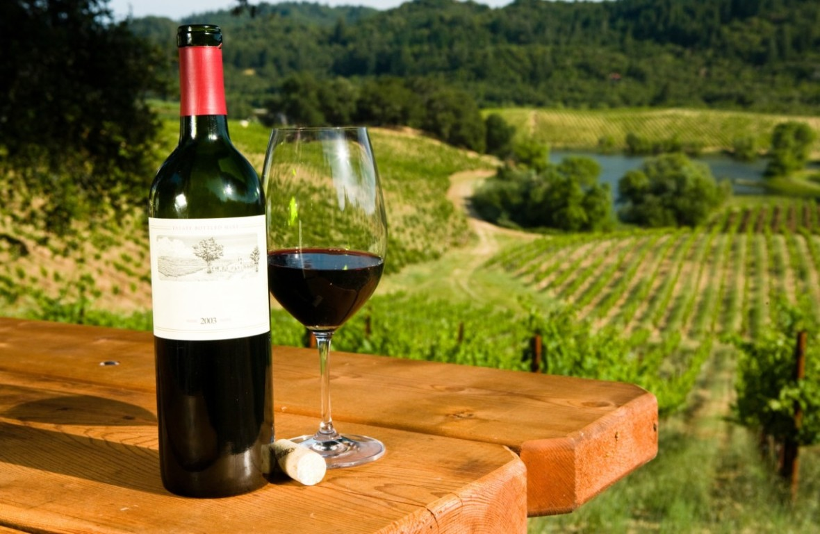 Бокал вина из Кондадо де Уэльва