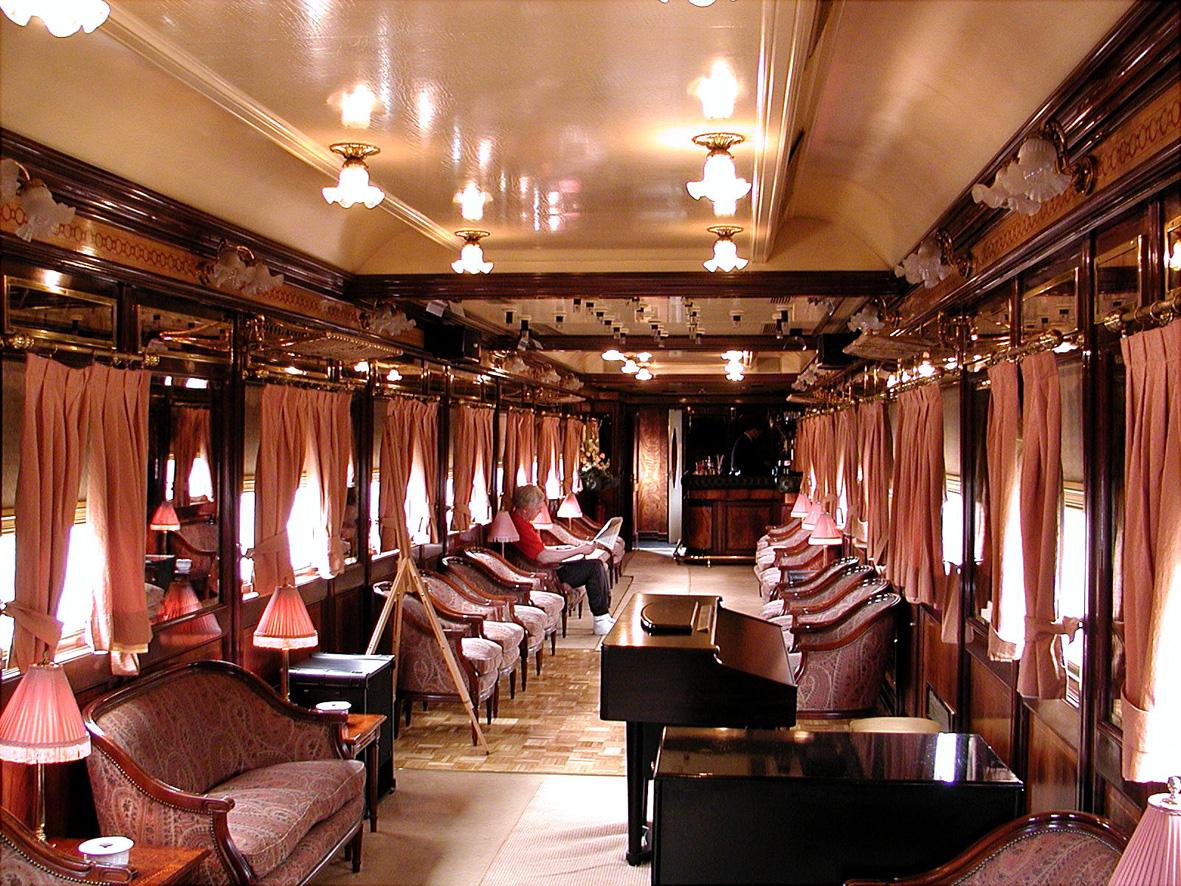 Чайный салон поезда-отеля Al Andalus